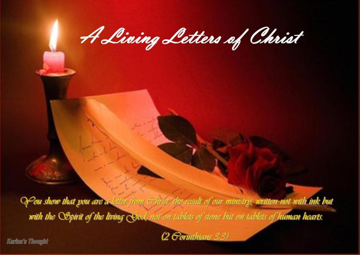A LIVING LETTER OF CHRIST2-Karina's Thought